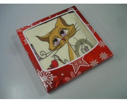 Набор махровое полотенце ЛО201/Короб картонный Красная звезда 50*100 см. Хлопок 100%