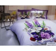 Комплект постельного белья Lavender 1.5 ПолиСатин 145гр/м2  Хлопок 100%