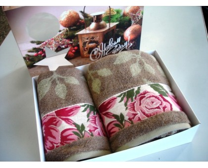 Комплект махровых полотенец КПЦ2602/3502-2937 Cleanelly Хлопок 100%
