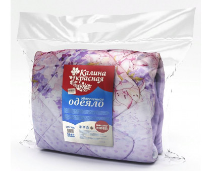 Одеяло холлофайбер ОХ175*205 облегчённое Калина красная