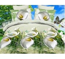 Камея Поплин Евро Комплект постельного белья Поплин 145гр/м2  Хлопок 100%