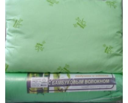Подушка с наполнителем из бамбука ПБХ2 70*70 см. Наволочка поликаттон с кантом. Вес 1000гр.