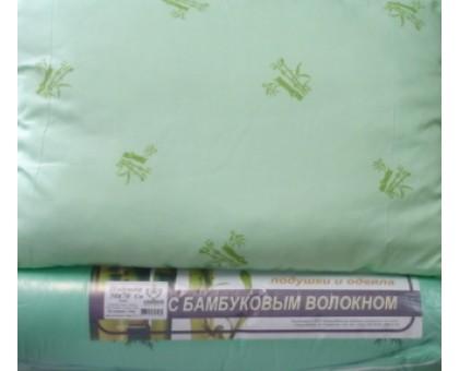 Подушка с наполнителем из бамбука ПБХ1 50*70 см. Наволочка поликаттон с кантом. Вес 650гр.