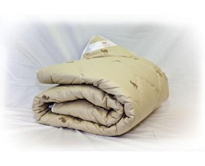 Одеяло стёганое из верблюжьей шерсти 100%, покрытие бязь Хлопок 100% ОШП15 140*205 см.