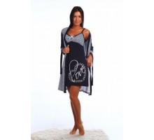 Персия Трикотажный халат с сорочкой