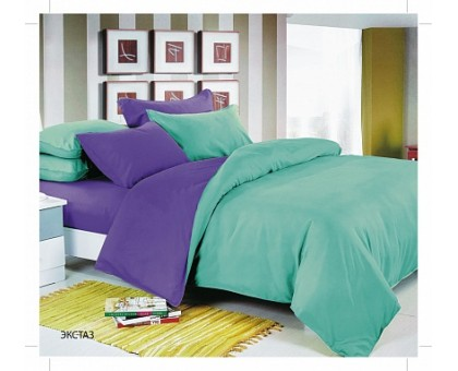 Комплект постельного белья Сатин Domenico Manetti 2,0 павлина 145гр/м2  Хлопок 100%