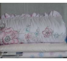 Одеяло стёганое с шёлковым наполнителем ОШ2 230*200 см. Покрытие Сатин Жакард Хлопок 100%