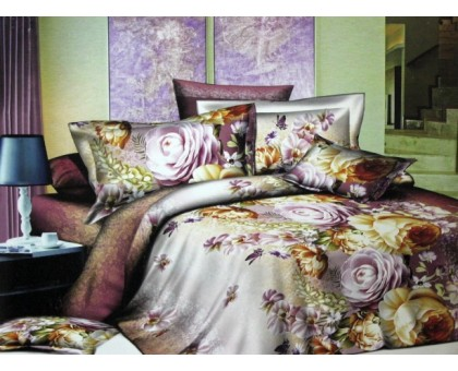 Комплект постельного белья Сатин 145гр/м2  Хлопок 100% КПК26 PRINCE