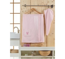 SEVAKIN светло-розовый Сауна женская Хлопок 100% Набор 2 предмета