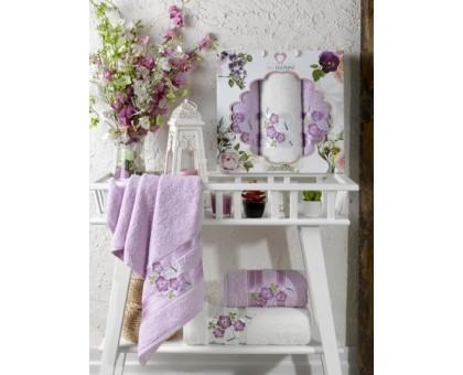 Набор махровых полотенец 3х предметный SAMANTHA лиловый