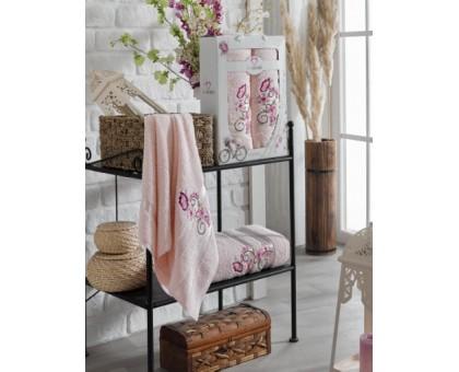 ISABELLA светло-розовый Набор махровых полотенец 2х предметный