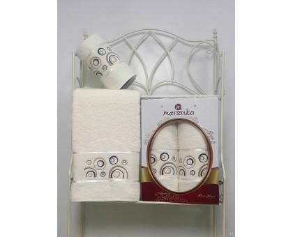 Набор махровых полотенец 2х предметный PRESTIJ 8981 50*90/70*140 см.