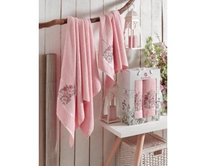 FLORAL светло-розовый Набор махровых полотенец 2х предметный