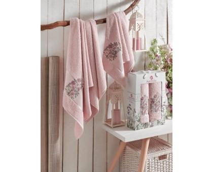 FLORAL розовый Набор махровых полотенец 2х предметный