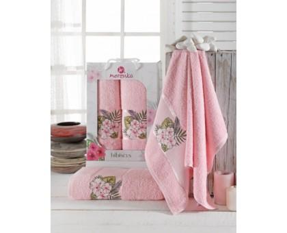 HIBISCUS светло-розовый Набор махровых полотенец 2х предметный