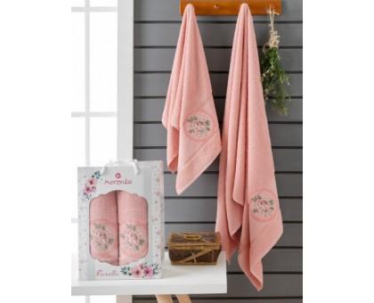 Набор махровых полотенец 2х предметный FIORELLA розовый 50*90/70*140 см.