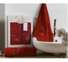 Набор махровых полотенец 2х предметный ORKIDE 50*90/70*140 шт.